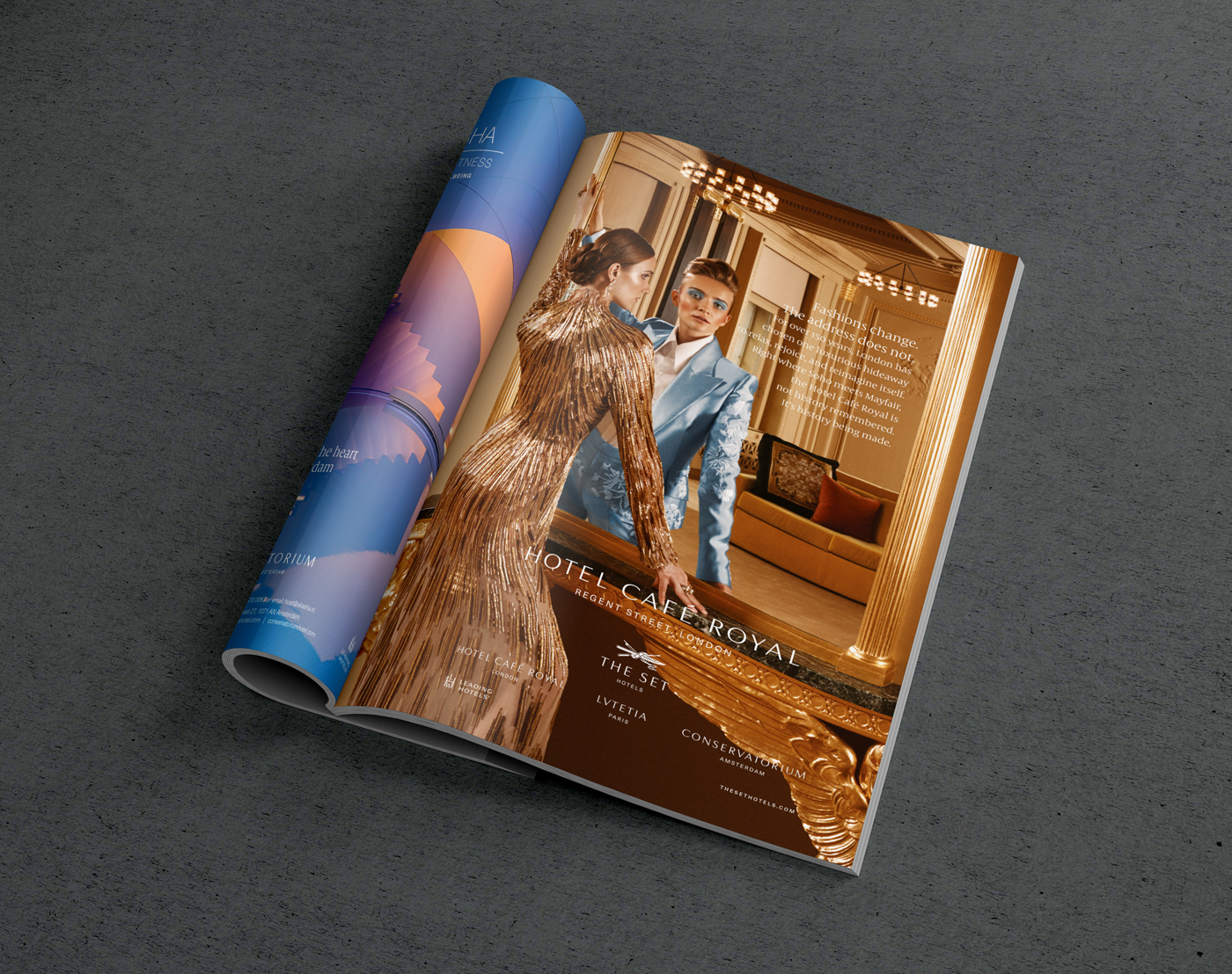 hotel brand development - branding - brand roll-out - Hotel Cafe royal brochure