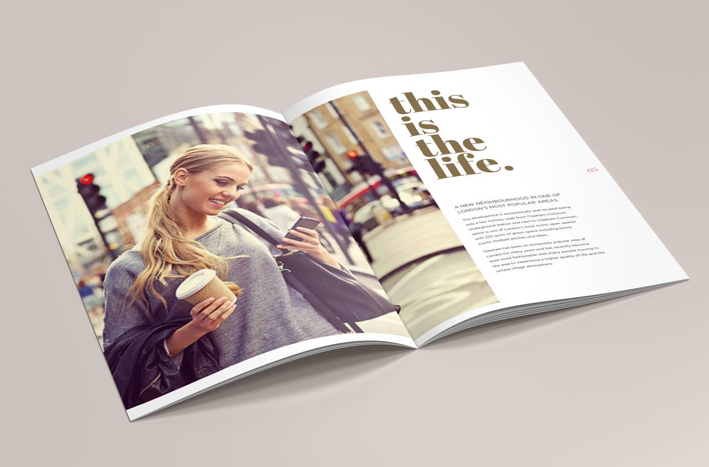 thornton park brand development design - brochure inside pages