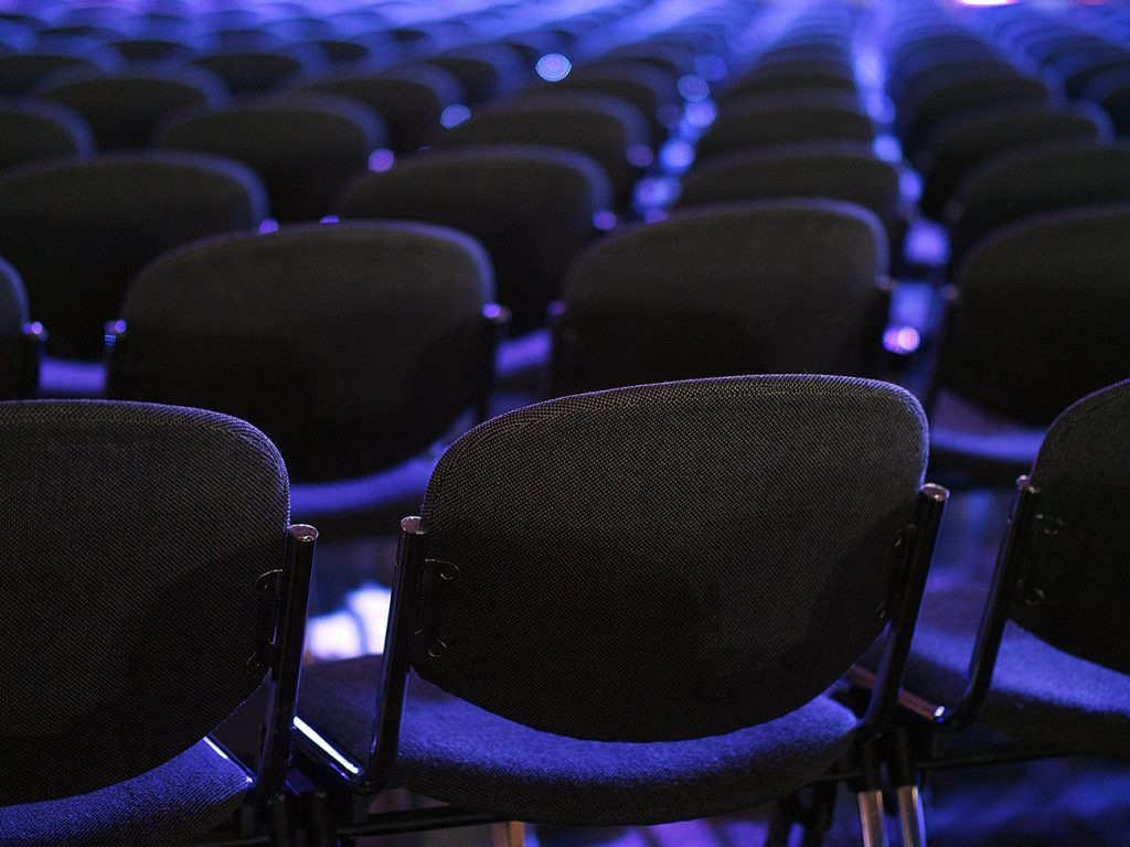 blog 1 - increase MICE bookings - blue conference seats image