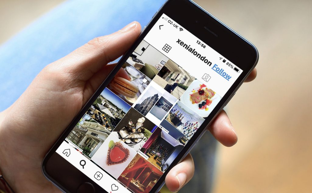 Blog 3 - conference venue marketing strategies - hotel marketing agency - pic of Hotel Xenia Instagram page re social media marketing