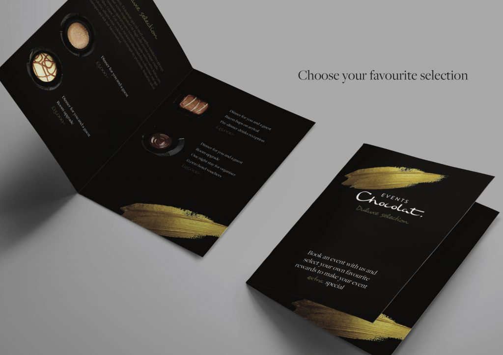 Blog 3 - conference venue marketing strategies - hotel marketing agency - pic of Hotel Chocolat Events/MICE brochure