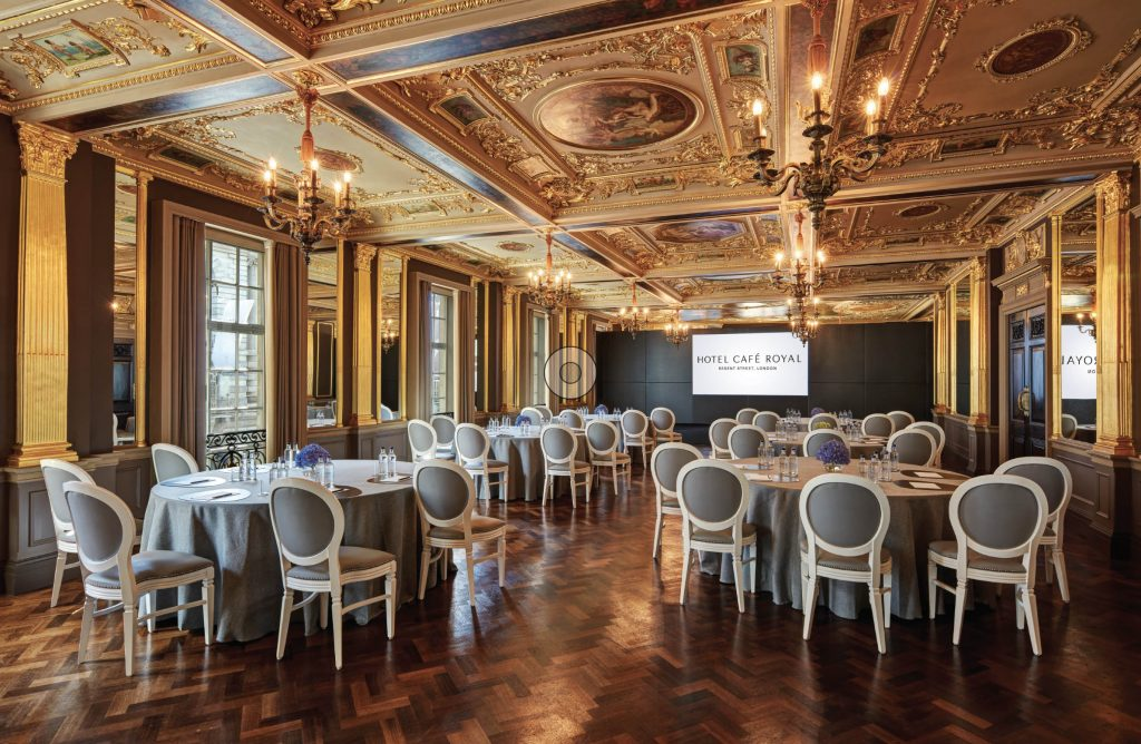Blog 3 - conference venue marketing strategies - hotel marketing agency - pic of Hotel Cafe Royal conference room