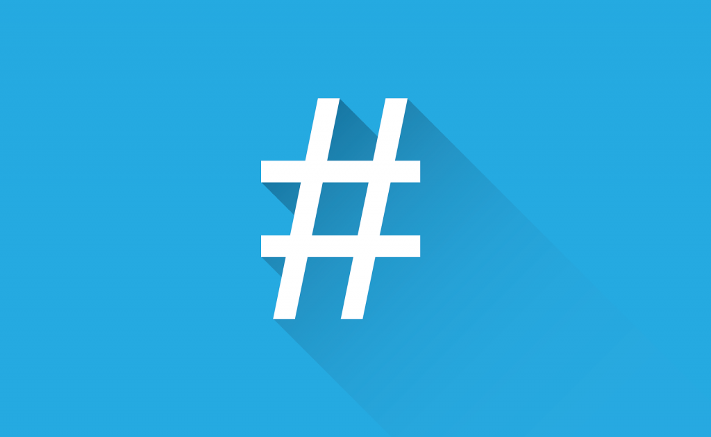 Blog 3 - pic of Hashtag re social media marketing & content marketing strategy