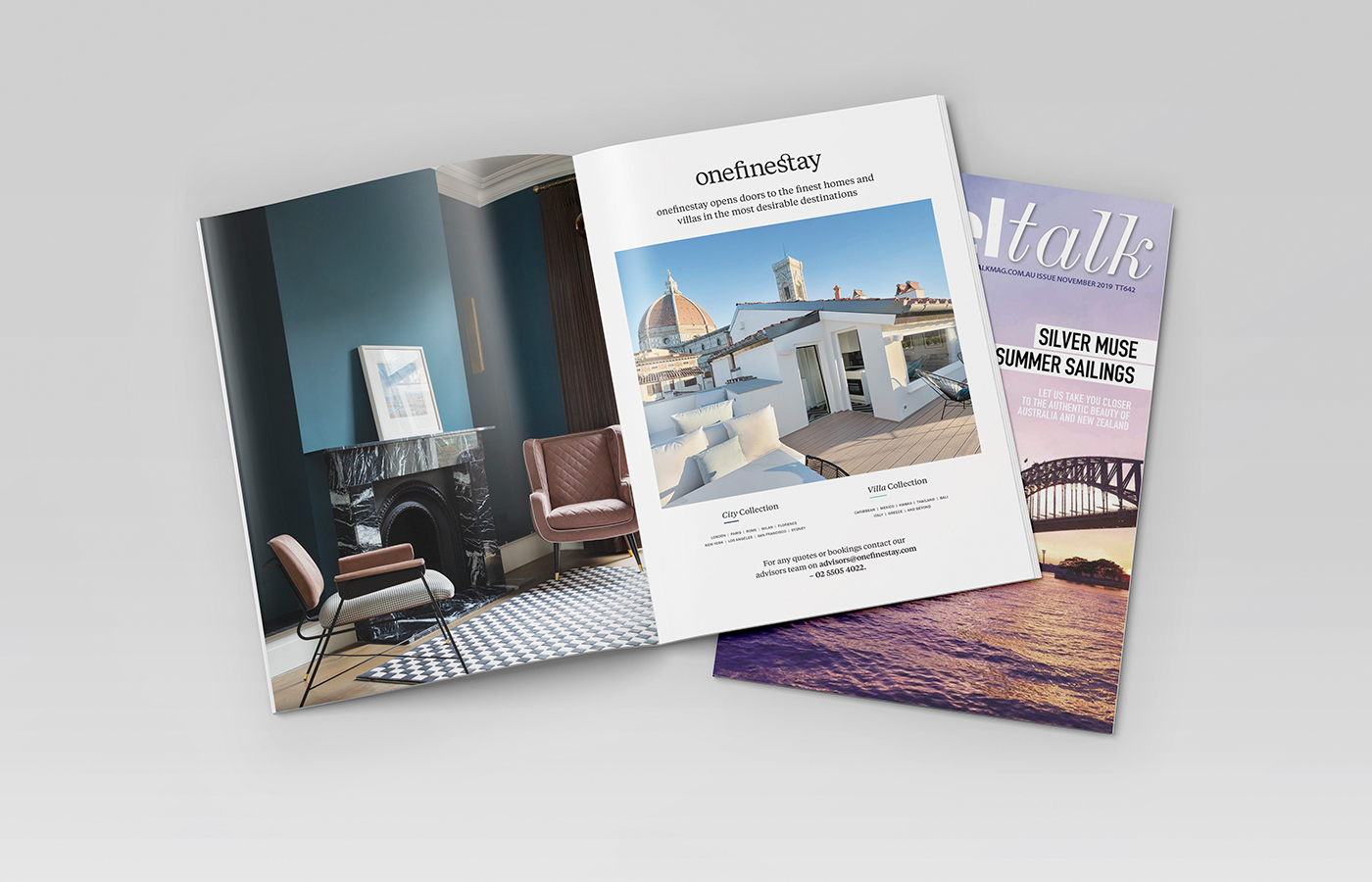 one fine stay brand guidelines example mag ad design